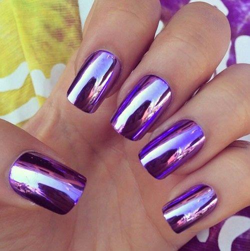 Purple ♥ nail art #nailart #purplenails