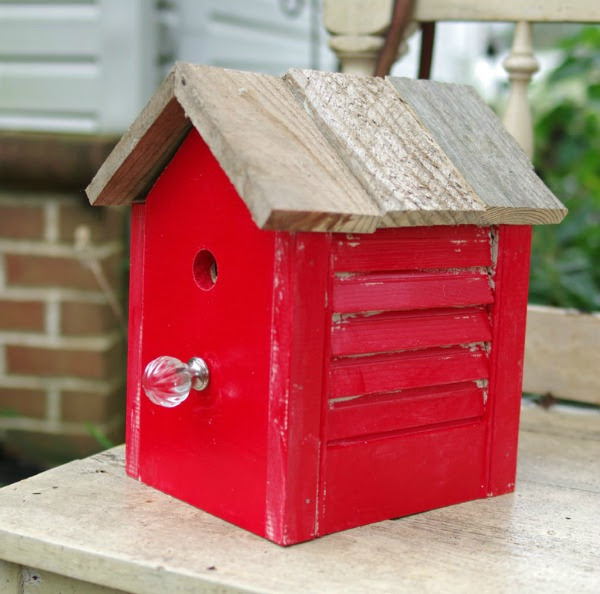 How to Make a Rustic Birdhouse from an Old Shutter by Create & Babble