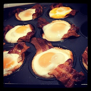 Happy New Year! Time for #baconeggcups and the Rose Parade! #brunch #breakfast #bacon #eggs