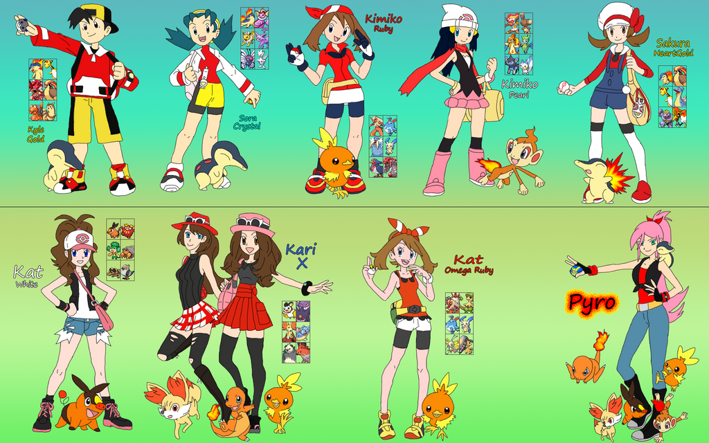 Pokemon Adventure Timeline Thing by DigiFoxCat on DeviantArt