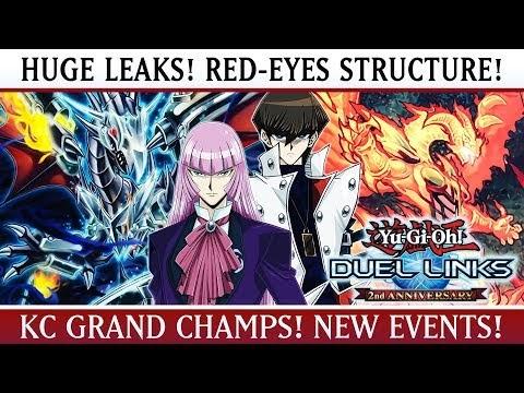 Yu-Gi-Oh! Duel Links   HUGE LEAKS! Red-Eyes Structure Deck