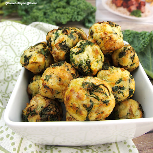 Kale and Potato Nuggets from The Vegan Air Fryer by JL Fields - Dianne's Vegan Kitchen