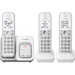 Panasonic - KX-TGD533W DECT 6.0 Expandable Cordless Phone System with Digital Answering System - White
