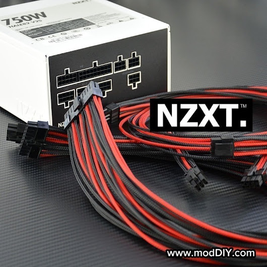 Professional Tailor-Made NZXT Custom Sleeved Modular Cable Kit