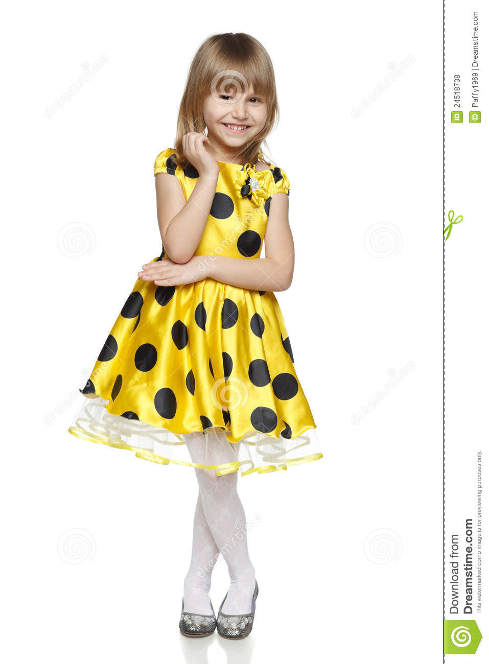 little girl bright summer dress 24518738