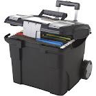 Storex Premium File Cart - Black