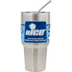 Nice Coolers 30oz Tumbler with Straw - Silver
