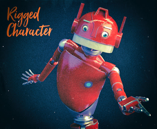 Nikola, 3D Professionally Rigged Character Robot For Blender - Ready For Animation...