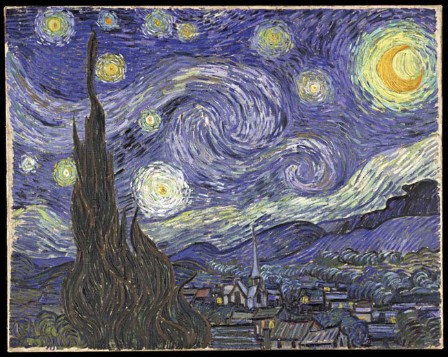 Starry Night. Van Gogh was