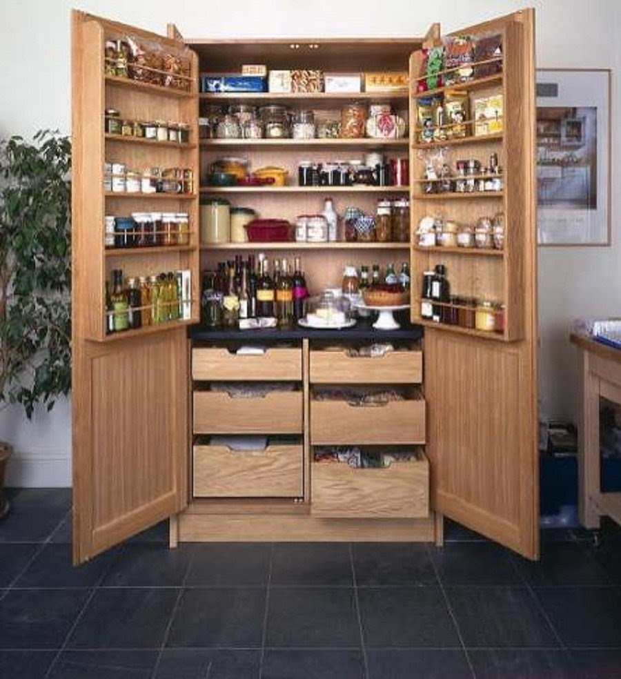 Free Standing Kitchen Pantry Cabinet - Home Furniture Design