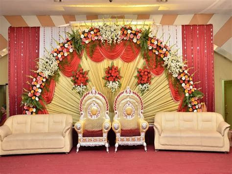 Simple sweetheart stage decorations, s stage wedding deco