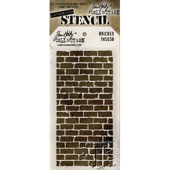 Tim Holtz Layering Stencil 2015 BRICKED THS038