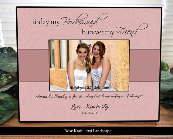Bridesmaid Picture Frame Maid Of Honor Frame Personalized Gifts