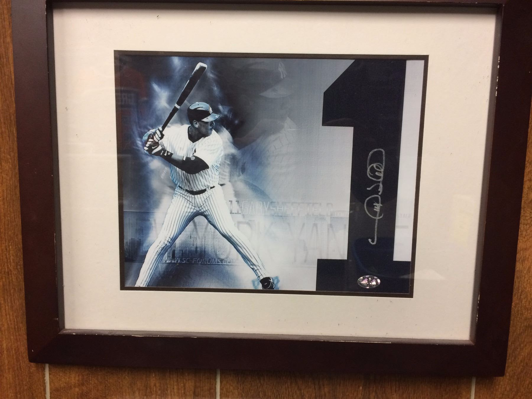 Gary Sheffield Ny Yankees In 13 X 16 Frame Is Picture Jersey