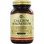 Solgar Calcium Magnesium Dietary Supplement, Tablets - 100 count