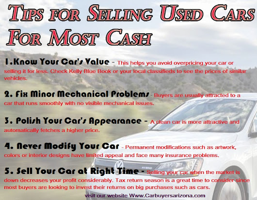 Tips for Selling Used Cars For Top Dollar