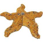 Beaded Wire Animal Starfish 6 inches Orange