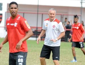 Cleber Santana e Dorival Junior treino Flamengo (Foto: Alexandre Vidal / Fla imagem)