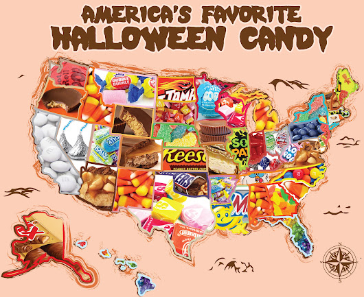 Top Halloween Candy by State ~ Interactive Map | CandyStore.com