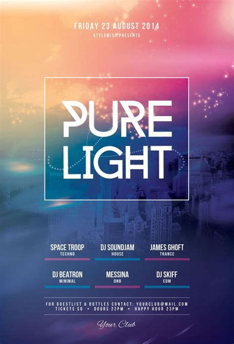 Pure Light Flyer by styleWish (Download PSD file)   Flyer