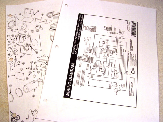 Mobile Home Furnace Wiring & Parts Manuals Diagrams ...