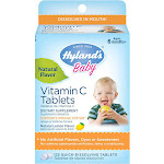 Hyland's Baby Vitamin C Quick Dissolving Tablets, Dietary Supplement with Natural Flavor, 125 Count
