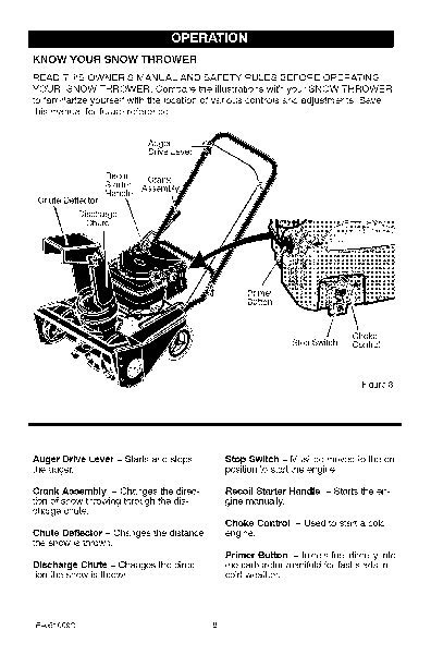 Craftsman 536.881400 21-Inch Snow Blower Owners Manual