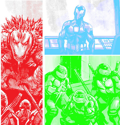 Tales of the TMNT # 50 otter pop peek.. art by Paul Harmon [[ Courtesy of R.Brown ]]