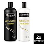Tresemme Moisture Rich Shampoo and Conditioner, 28 oz, 2 Pk