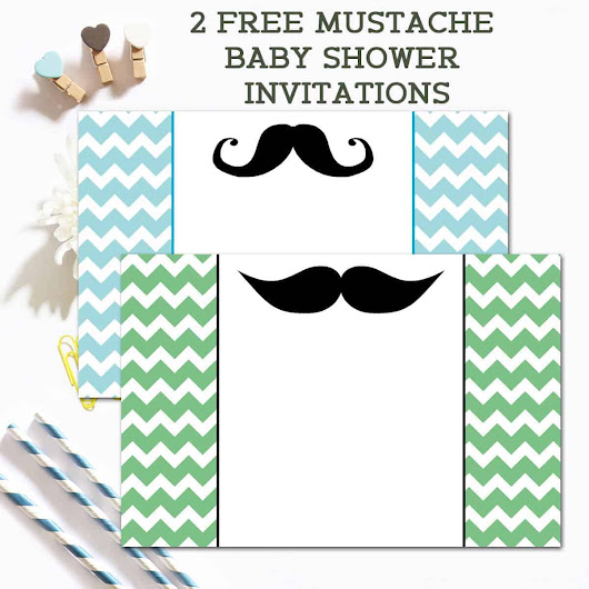 Free Mustache Baby Shower Invitations - Ilona's Passion
