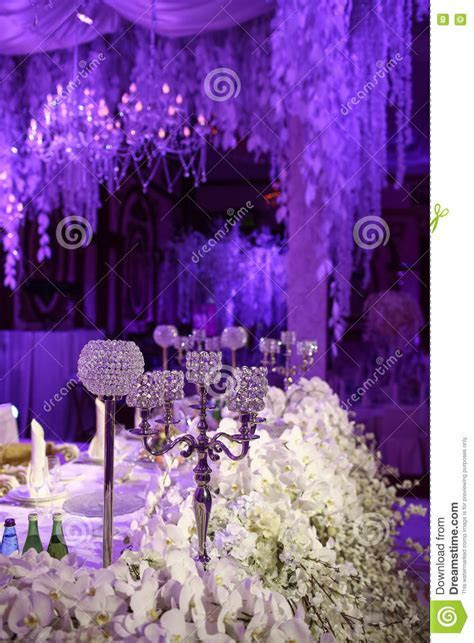 Beautiful Restaurant Interior Table Decoration For Wedding