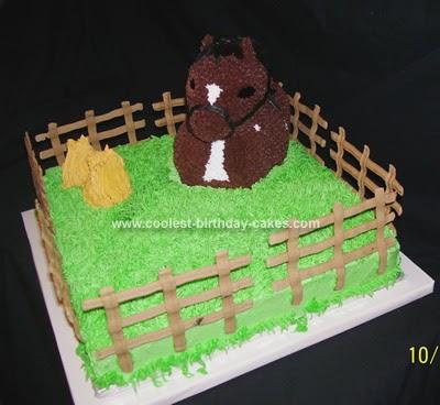 1984 Wilton Rocking Horse Pony Birthday Cake