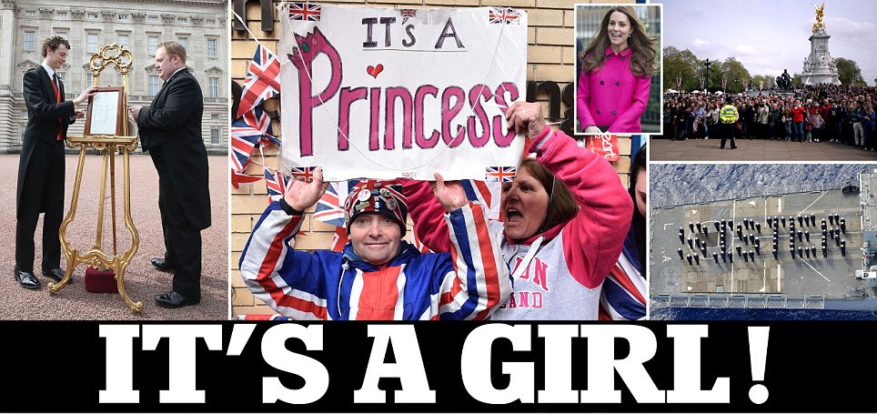 The royal baby's here! Kate Middleton is 'doing well' after giving birth to a girl