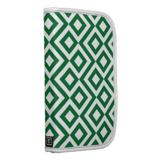 Green and White Meander Planner