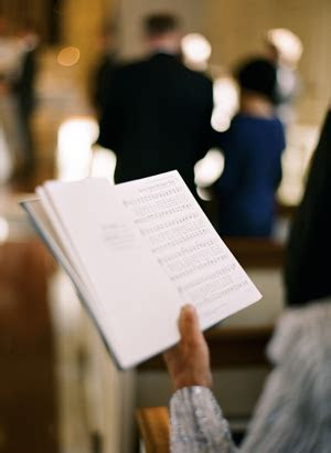 Favorite wedding ceremony hymns and songs: