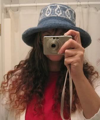 Denim Felted Hat After