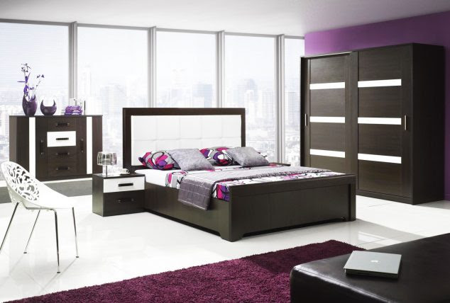 13126 bedroom furniture sets in purple room 634x428 15 Unique Bedroom Furniture Set to Inspire You