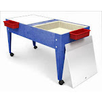 Manta Ray S8724 Double Mite Activity Center with 2 Mega Trays And Casters