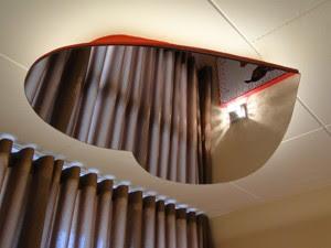 Espelho no teto, em formato de coração, decora o 'Pet Motel' em BH. (Foto: Alex Araújo/G1)