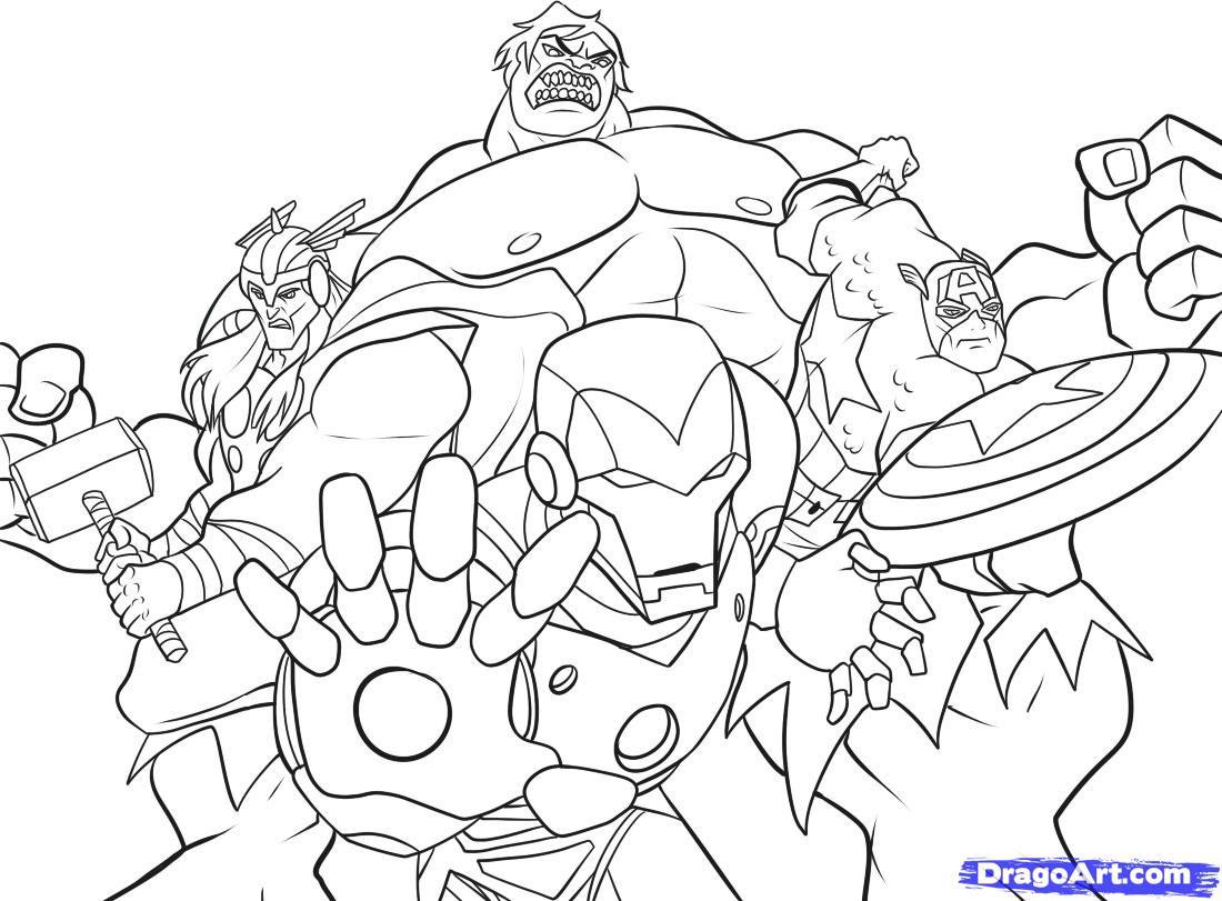Nouveau Coloriage Avengers A Imprimer