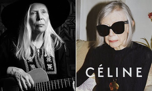 Joni Mitchell, 71, is unveiled as the new face of Saint Laurent