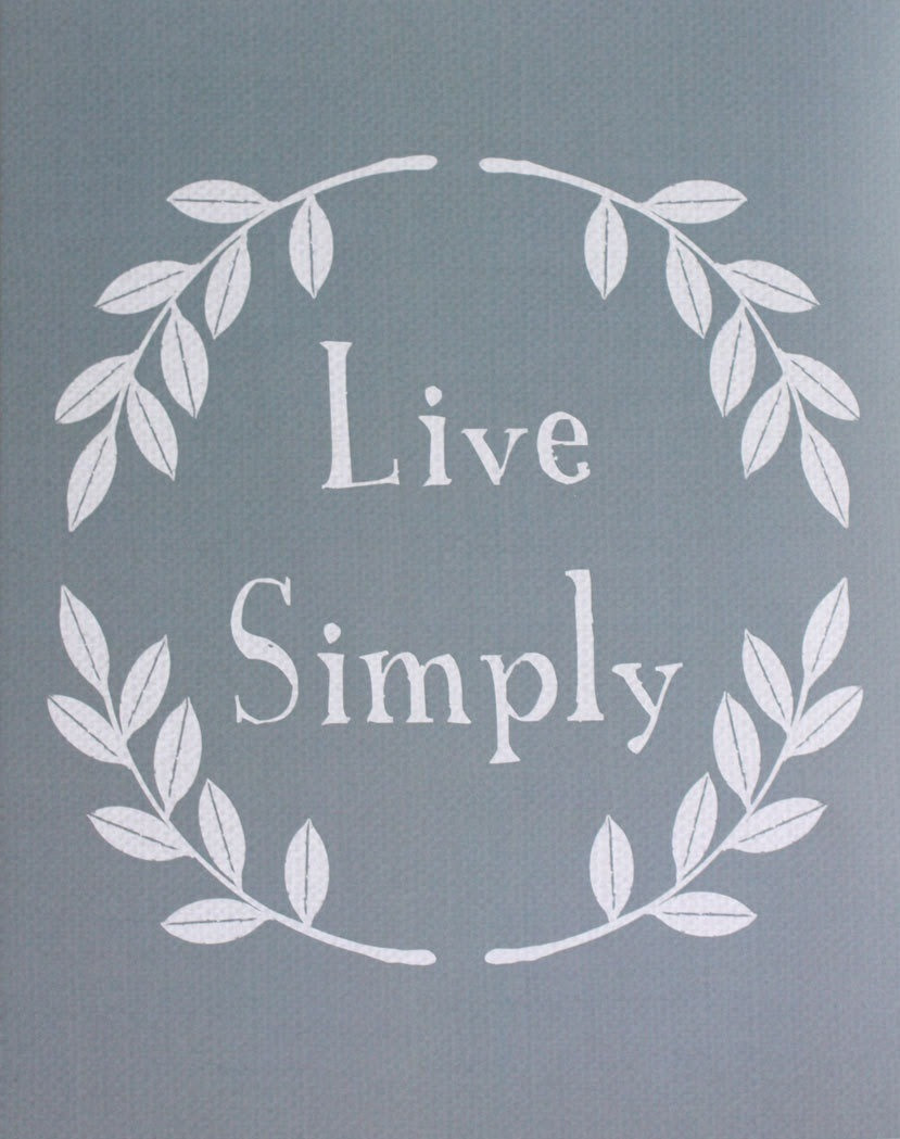 Live Simply = Simply Live.