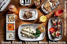 Greek Sneek various menu selections