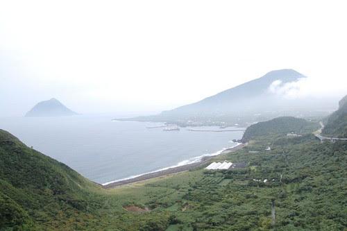 Hachijo Fuji and the small island