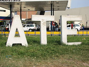 District sign Ate district at Ovalo Santa Anit...
