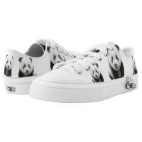 Panda Zipz Low Top Sneakers, Printed Shoes