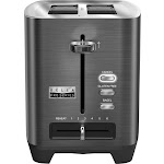 Bella - Pro Series 2-Slice Extra-Wide-Slot Toaster - Black Stainless Steel