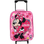 Disney Kids' Minnie Mouse Rolling Luggage - Pink one size