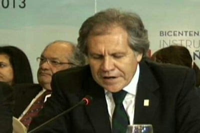 El canciller de Uruguay, Luis Almagro