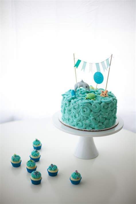 On Top Of The Sea: Ocean Themed Cakes!   Coco Cake Land